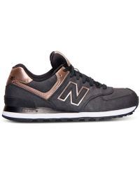New Balance Women'S 574 Precious Metals Casual Sneakers From Finish Line - Lyst