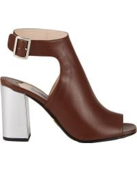 Prada Halterstrap Peeptoe Sandals - Lyst