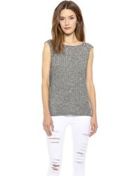 Addison Bruno Draped Back Tank  Heather - Lyst