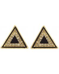 House Of Harlow Teepee Triangle Studs Black - Lyst