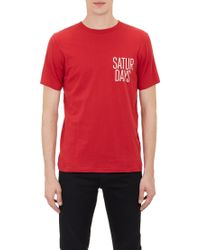 Saturdays Surf Nyc Red Saturdays T-shirt - Lyst