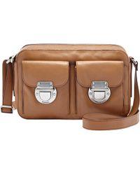 Fossil - Riley Leather Top Zip Shoulder Bag - Lyst