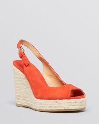 Lauren by Ralph Lauren Peep Toe Platform Wedge Espadrille Sandals Susy - Lyst