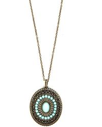Ana Accessories Inc Eye Of Elegance Necklace - Lyst