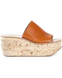 Chloé Wedge Mules brown - Lyst
