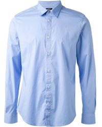 Diesel Blue Classic Shirt - Lyst
