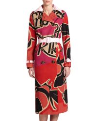 Burberry Prorsum Abstract-Print Trenchcoat multicolor - Lyst
