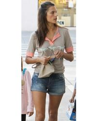 Wildfox | California Coast Tee In Warm Cement As Seen On Alessandra Ambrosio | Lyst