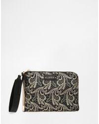 Lipsy - Lace Clutch Bag - Lyst
