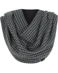 Armani Houndstooth Scarf - Gray
