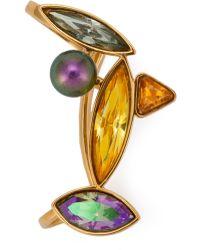 Ca&Lou Crystal Earrings - Metallic