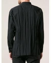 Issey Miyake Creased Shirt - Lyst