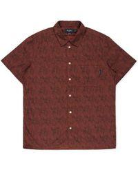 Paul Smith Dark Red Oddities Print Short-Sleeve Shirt red - Lyst