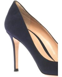 Gianvito Rossi Business Point-Toe Suede Pumps - Lyst
