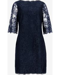 Ted Baker Wide Sleeve Lace Dress - Lyst