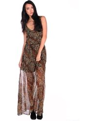 Lucca Couture Lc Maxi Dress animal - Lyst