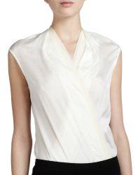 Donna Karan New York Sleeveless Wrap Bodysuit - Lyst
