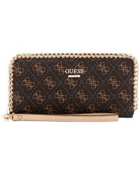 Guess Confidential Chain Large Zip Around Wallet - Lyst