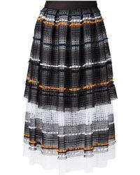 Natargeorgiou - Woven Stripe Skirt - Lyst
