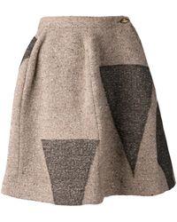 Vivienne Westwood Tweed Triangle Print Skirt - Lyst