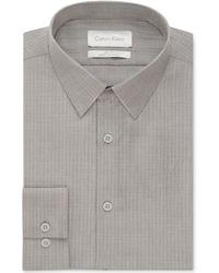 Calvin Klein Platinum Storm Textured Geo Pattern Dress Shirt - Lyst
