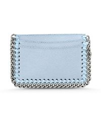 Stella McCartney Falabella Shaggy Deer Card Holder blue - Lyst