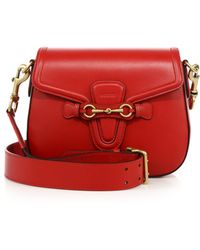 Gucci | Lady Web Medium Leather Shoulder Bag | Lyst
