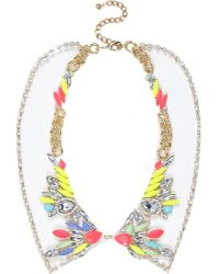 River Island - Multicoloured Gem Stone Jelly Collar Necklace - Lyst
