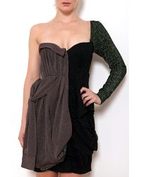 Coven One Shoulder Bustier Dress - Lyst