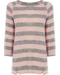 Oasis Marl Stripe Sweat - Lyst