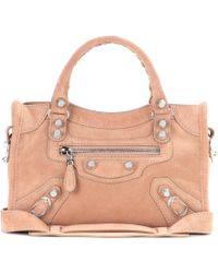 Balenciaga Giant 12 Mini City Suede Shoulder Bag - Lyst