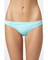 Topshop Basic Bikini Bottoms blue - Lyst