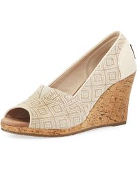TOMS Woven Diamond Classic Wedge - Lyst