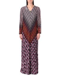 Missoni Longsleeved Knitted Dress Pink - Lyst