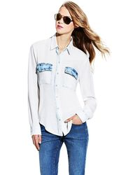 Vince Camuto Bleached Button-Down Shirt - Lyst