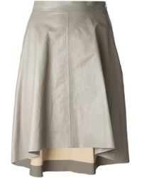 MSGM A-Line Leather Look Skirt - Lyst