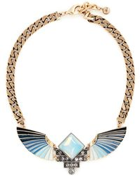 Lulu Frost 'horizon' Opal Ombré Wing Necklace - Blue