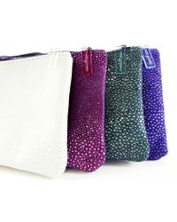 Nadia Gabriella - Stringray Embossed Leather Pouch - Lyst