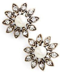 Allison Reed - Daisy Faux Pearl & Crystal Earrings - Lyst