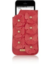 Burberry Prorsum Siliconeembellished Texturedleather Iphone 5 Sleeve - Lyst