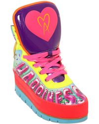 Manish Arora 70mm Happiness Leather High Top Sneakers - Lyst