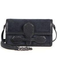 Bottega Veneta Mixed-Media Shoulder Bag - Lyst