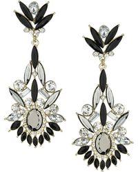 Topshop Navette Stone Earrings - Lyst