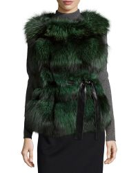 Gorski - Fox-Fur Belted Vest - Lyst