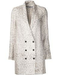 Raquel Allegra Double Breasted Blazer - Natural