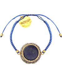 Soru Jewellery - Lapis Charm Cord Tie Bracelet - Lyst