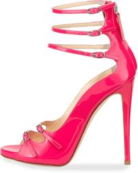 Giuseppe Zanotti Strappy Patent Leather Pump - Lyst