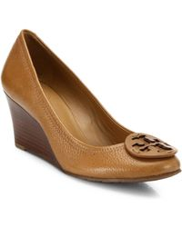 Tory Burch | Sally Leather Wedge Pumps | Lyst