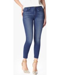 7 For All Mankind Mid Rise Skinny Crop - Lyst