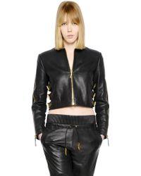 Giuseppe Zanotti Buckles On Nappa Leather Jacket - Lyst